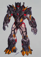 GRIMLOCK TRANSFORMERS BATTLE MACHINE by GUILLERMOTFMASTER