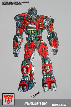 PERCEPTOR TRANSFORMERS BATTLE MACHINE