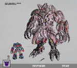 TRYPTICON TRANSFORMERS BATTLE MACHINE by GUILLERMOTFMASTER