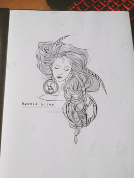 Girl hair sketch