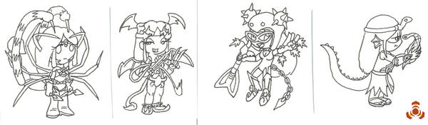 Chibi Team Fatale for Star by Harbluia