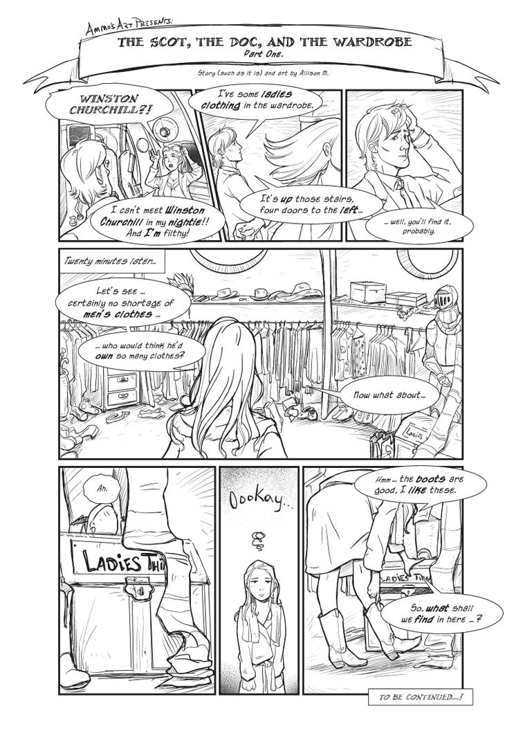 DW - Silly Comic 1 page 1 by Ammosart