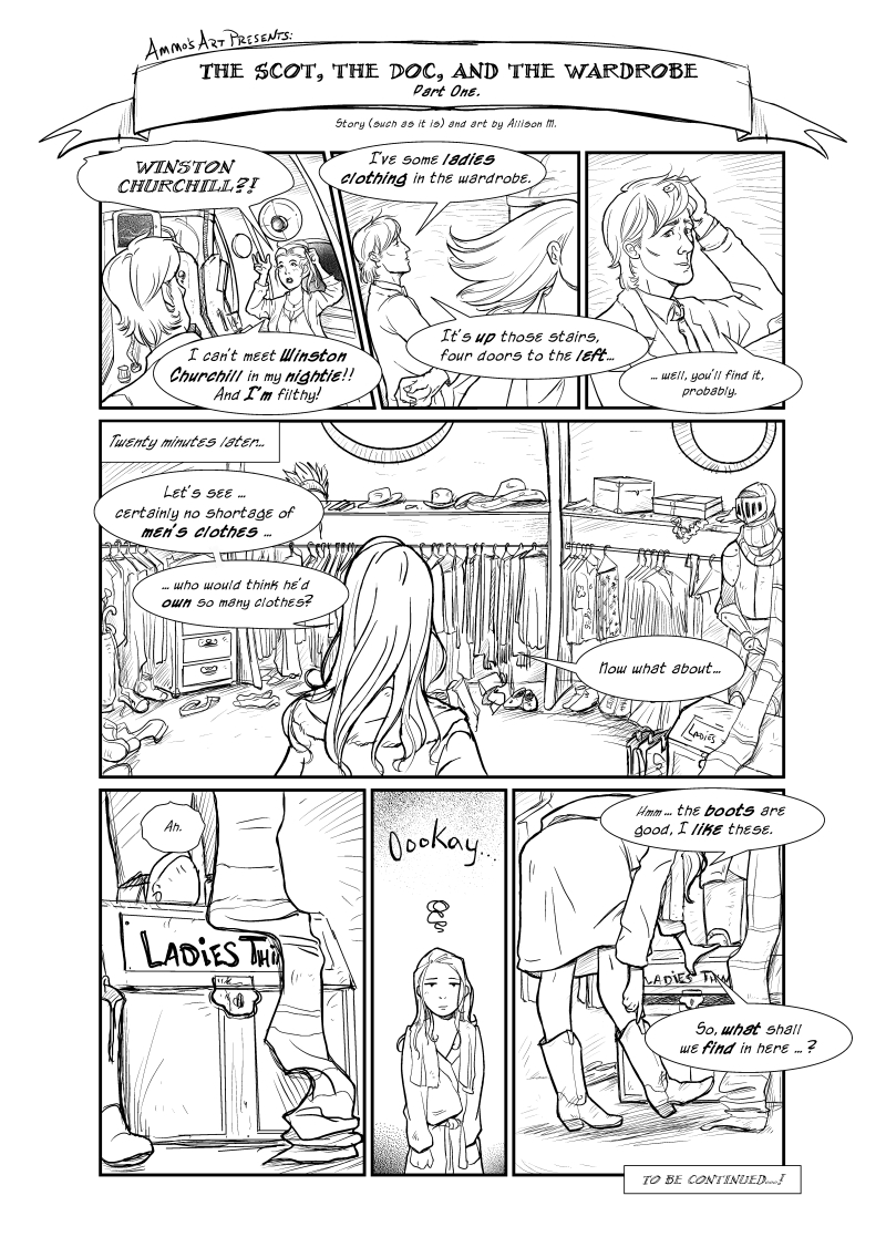 DW - Silly Comic 1 page 1 by lenneth