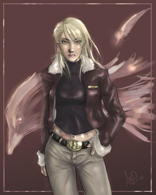 FMA - Riza Hawkeye by Ammosart