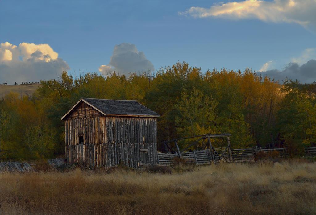 Barn Near Elk Mountain WY by kevoka