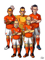 [2014 World cup Edition] B team : Netherlands by sakiroo