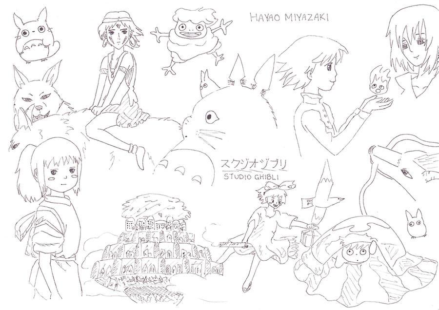 Studio Ghibli collage by ANiMEAddiCt4EVA on DeviantArt