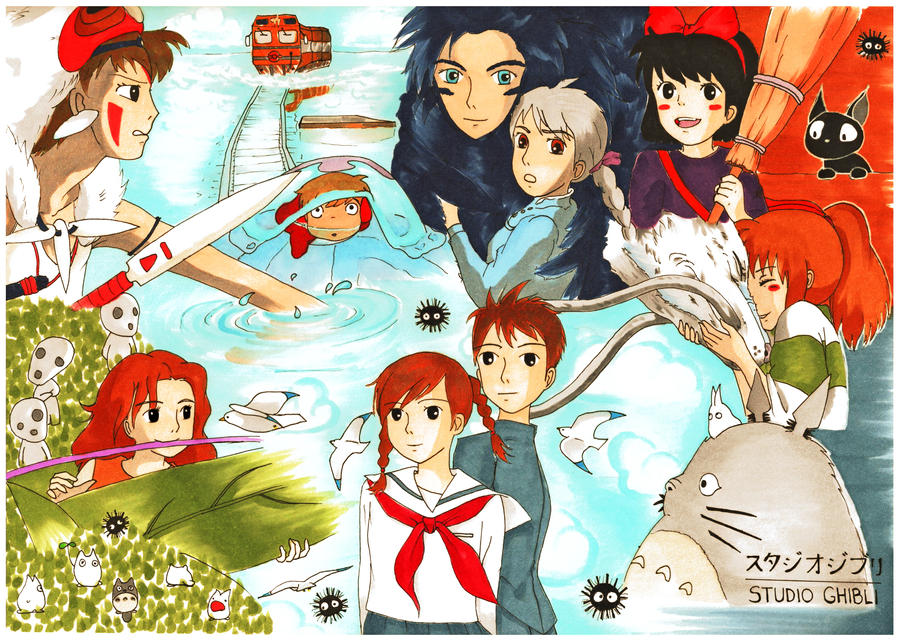 studio ghibli collage! by ANiMEAddiCt4EVA