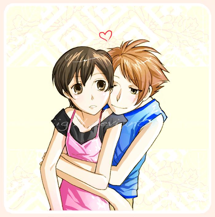 Hikaru and Haruhi by momijigirlOuran Highschool Host Club Haruhi X Hikaru
