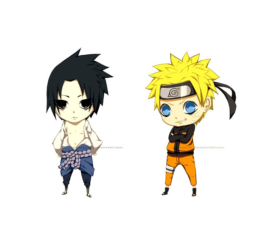 Mini Chibis:Naruto and Sasuke by momijigirl on DeviantArt Gaara And Naruto Chibi