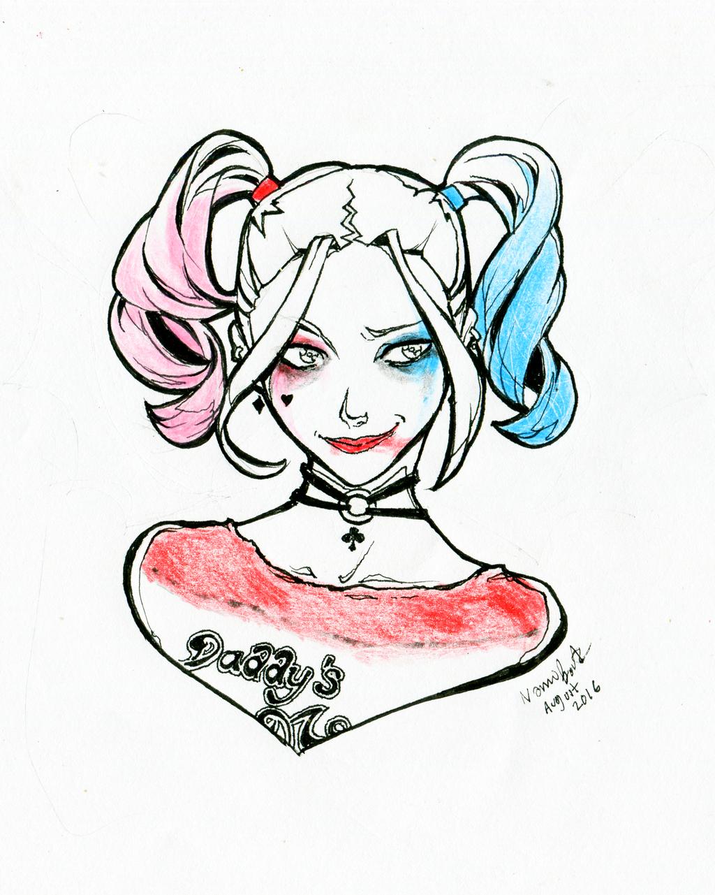 Harley Quinn Drawing: Harley Quinn Suicide Squad By Momijigirl On DeviantArt