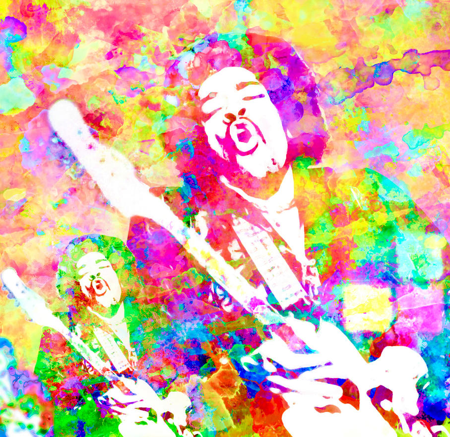 Cosmic Colours of Voodoo Child by yorkey-sa