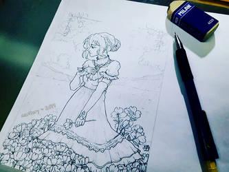 :: Violet :: Fan Art - Sketch by maritery-san