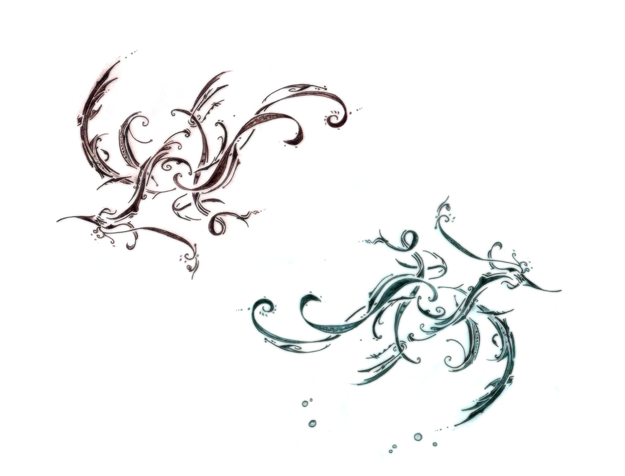 Sea and sky by superdecimal on deviantart for Sea dragon tattoo