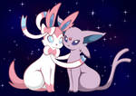 Sylveon and Espeon