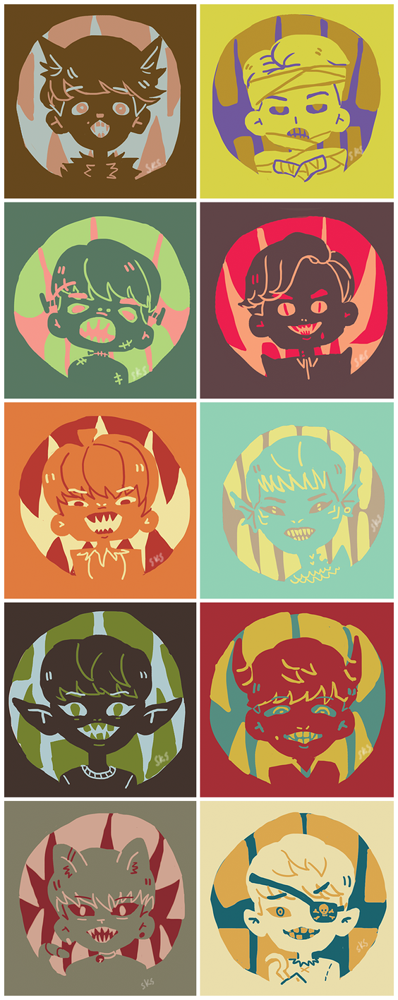 exo+haloween by Julia-Yes