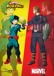 Crossover BNHA y Marvel by danyfoo