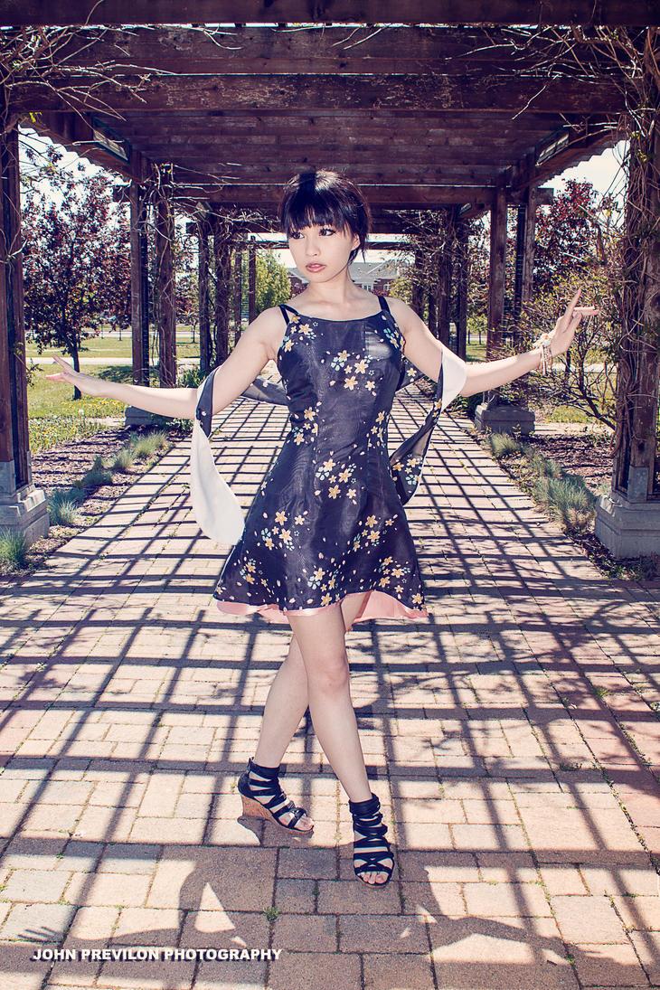 Digital Print semi-formal dress by Yuwi