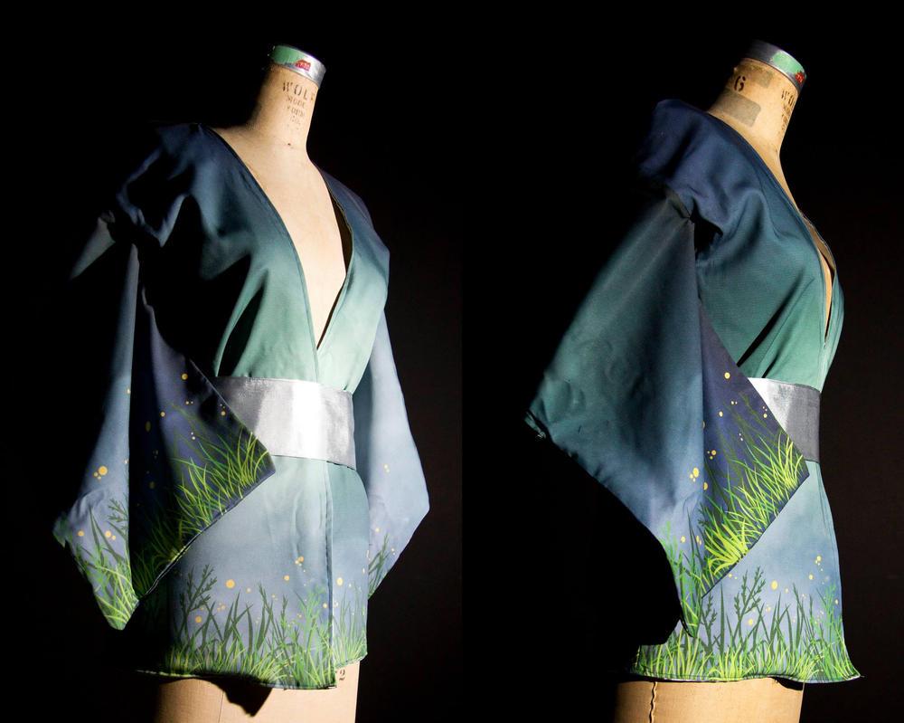 Digital Print short kimono by Yuwi
