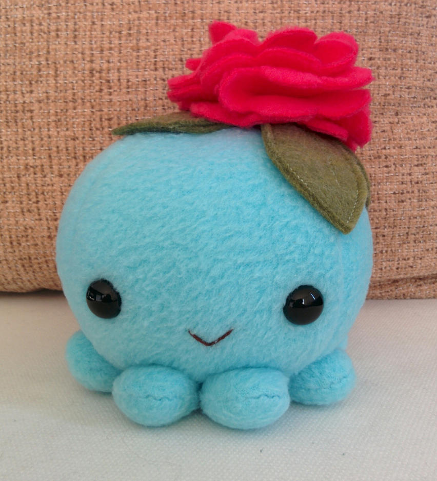 Smile! Flower octopus plush by ValkyriaCreations