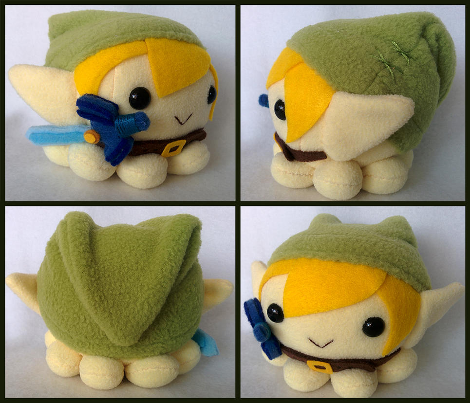 Custom Legend of Zelda: Link Octopus plush by ValkyriaCreations