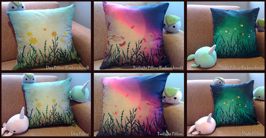 Digitally printed/designed pillow covers by ValkyriaCreations