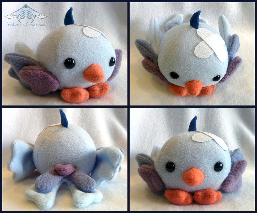 Adorable small chicklet plush by ValkyriaCreations