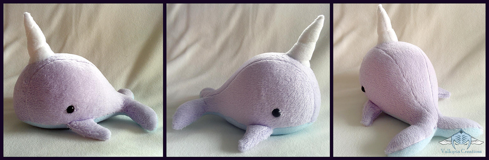 Lavender Narwhal by ValkyriaCreations