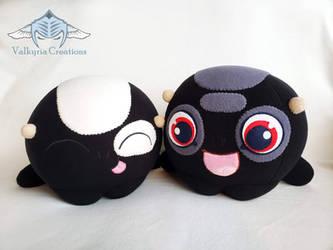 Facebook Black Hatch Pair Plush by ValkyriaCreations