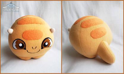 Golden Facebook Hatch Plushie by ValkyriaCreations