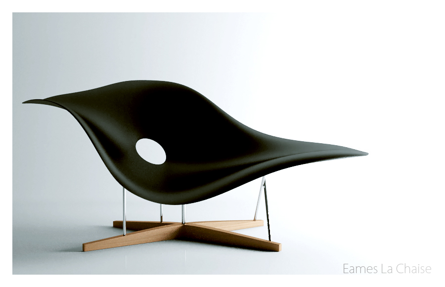 Eames La Chaise by apixx on DeviantArt