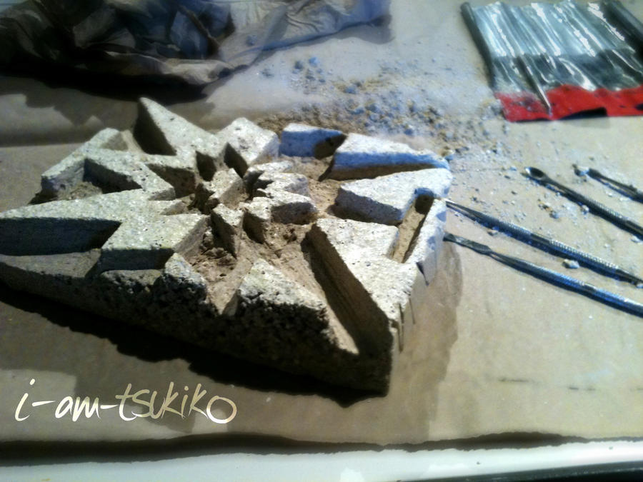Crea stone relief WIP by i-am-tsukiko