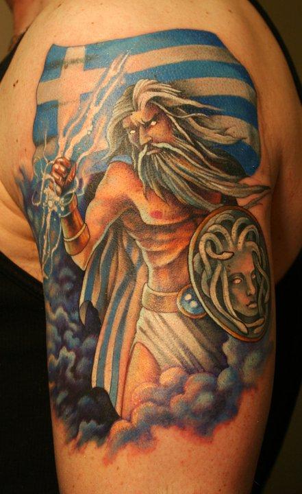 Zeus tattoo by phedre1985 on deviantart for Zeus tattoo designs