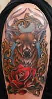 Fancy Deer Tattoo