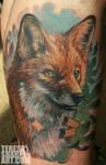 Fox critter tattoo