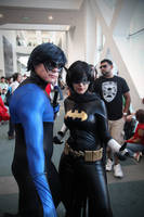 Nightwing and Blackbat by tenleid