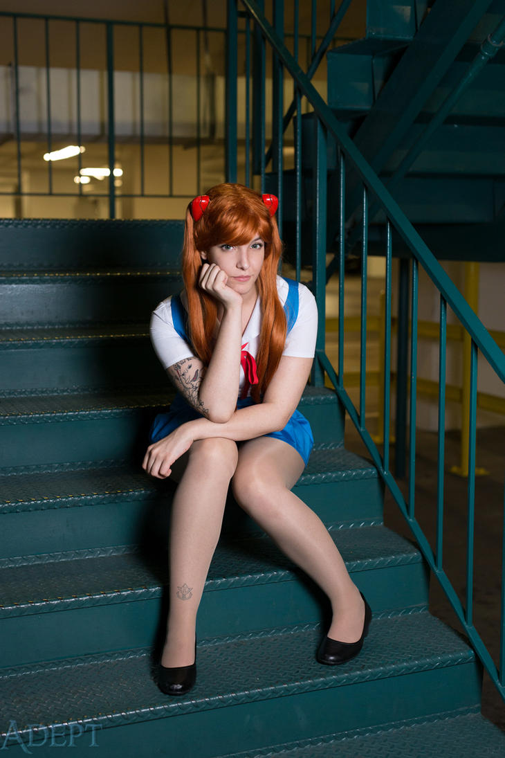 Asuka Langley - School Uniform by tenleid