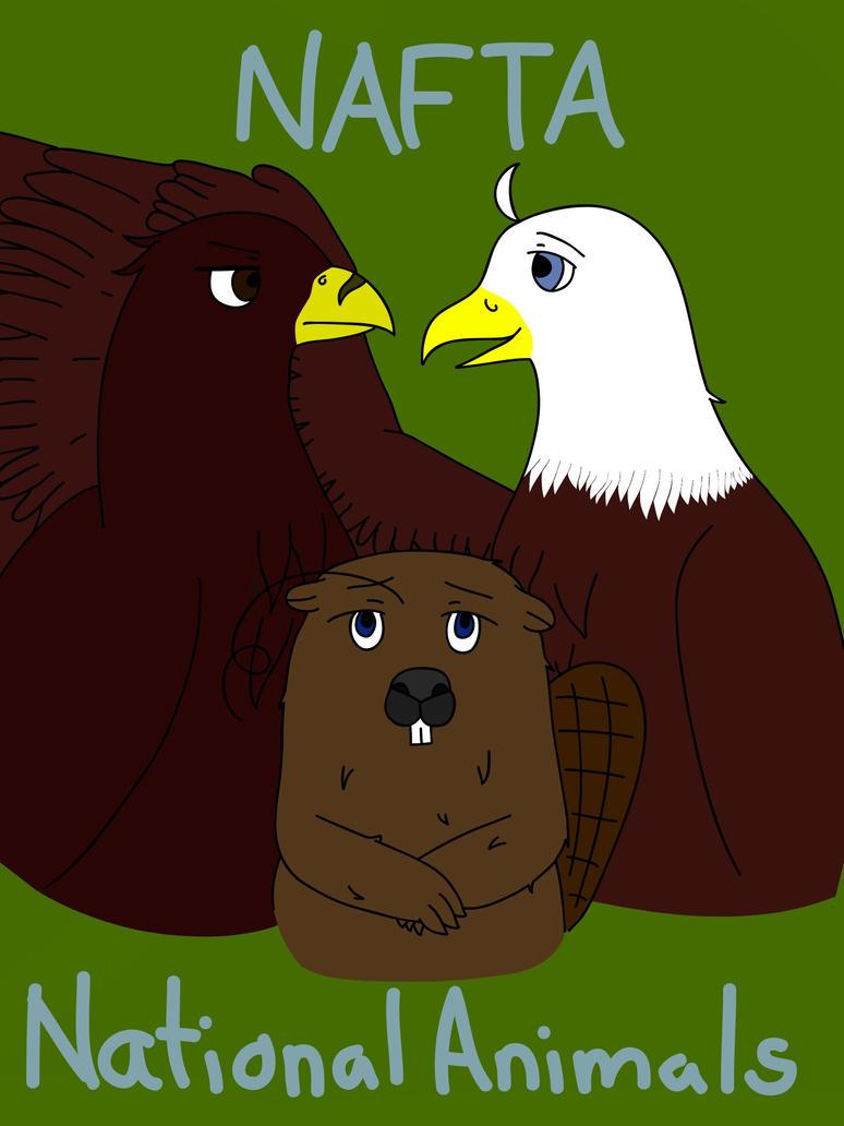 El rincón artístico de Britamex Tlcan_nafta_trio___national_animals_by_crazy_aika-d564rp0