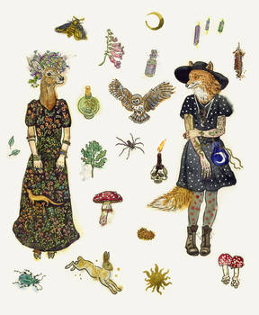Forest witches fashion.