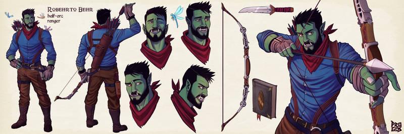 Dnd commission- Behr, half-orc ranger