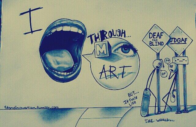 I SPEAK THROUGH MY ART by myartisoriginal