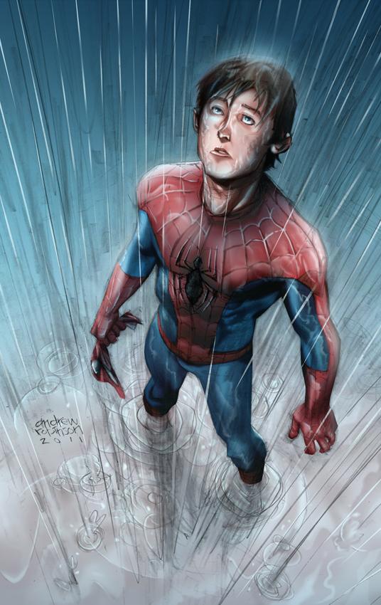 Spiderman, peter taste the rain by sambis