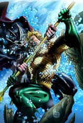 Aquaman Vs Ocean Master by sambis
