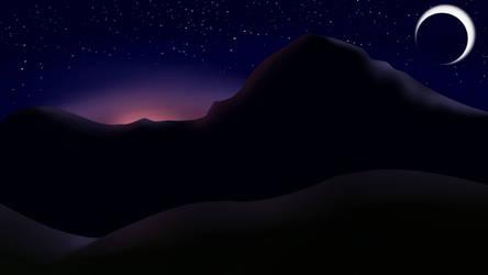 Ben Nevis at Night by GadzooksPony