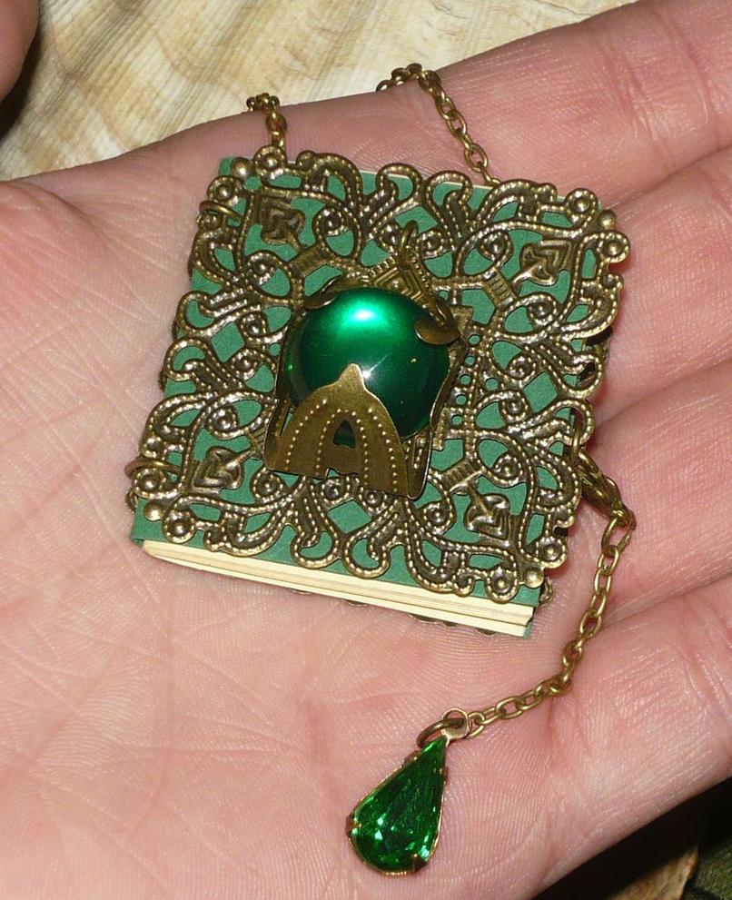 Viridian Spellbook - Necklace by Ganjamira