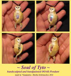 Soul of Tyto - handsculpted Pendant