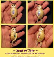 Soul of Tyto - handsculpted Pendant by Ganjamira