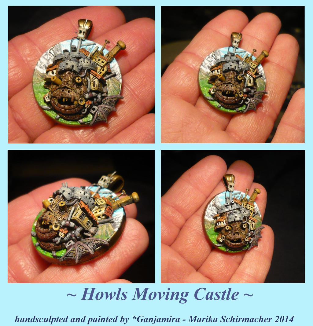 Howls Moving Castle - handsculpted 3D-Pendant by Ganjamira