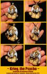 Krieg the Psycho - handsculpted miniature Pendant by Ganjamira