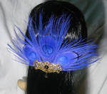 Violetta - Hairclip with purple Peacockfeathers
